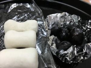 繭玉と黒豆